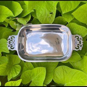Nambe 210 silver tray vintage